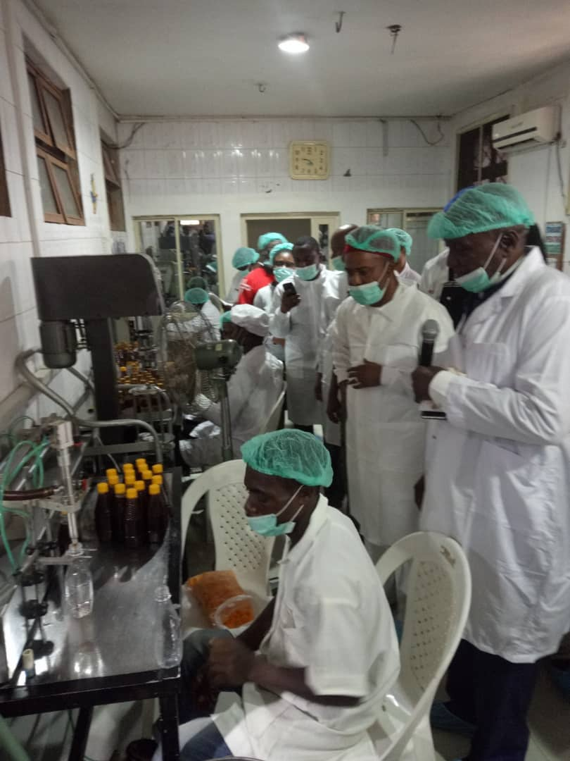 The visit of Honorable Minister for science and technology, Dr ogbonnaya onu to A&SHINE INTL LTD KUJE ABUJA